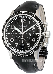 Breguet Type XXI Black/Leather Ø42 mm 3810TI-H2-3ZU