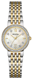 Bulova Diamond White/Yellow gold toned steel Ø26 mm 98W211