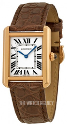 Cartier Tank Solo Silver colored/Leather W5200024