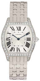 Cartier Tortue Silver colored/18 carat white gold WA501013