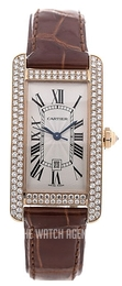 Cartier Tank Americaine Silver colored/Leather WB704751