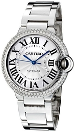 Cartier Ballon Blue Silver colored/18 carat white gold Ø36.6 mm WJBB0008