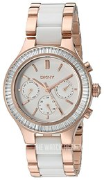 DKNY White/Rose gold colored steel Ø38 mm NY2498