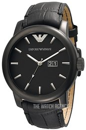 Emporio Armani Classic Black/Leather Ø47 mm AR0496