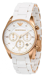 Emporio Armani Sportivo Silver colored/Rose gold colored steel Ø38 mm AR5920