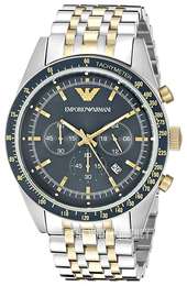 Emporio Armani Sportivo Blue/Yellow gold toned steel Ø46 mm AR6088