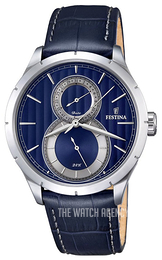 Festina Dress Blue/Leather Ø46 mm F16892-3