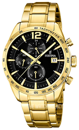 Festina Black/Yellow gold toned steel Ø44 mm F20266-3