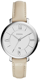 Fossil Dress White/Leather Ø37 mm ES3793