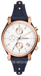 Fossil Casual White/Leather Ø38 mm ES3838
