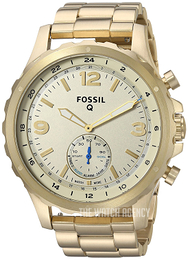 Fossil Nate Champagne colored/Yellow gold toned steel Ø50 mm FTW1142