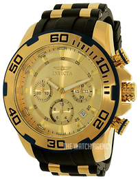 Invicta Pro Diver Yellow gold toned/Yellow gold toned steel Ø50 mm 22345