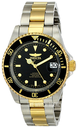 Invicta Pro Diver Black/Yellow gold toned steel Ø40 mm 8927OB