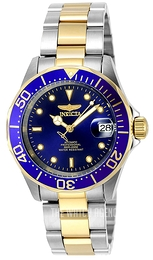 Invicta Pro Diver Blue/Yellow gold toned steel Ø23 mm 8942