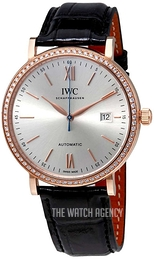 IWC Portofino Silver colored/Leather Ø40 mm IW356515