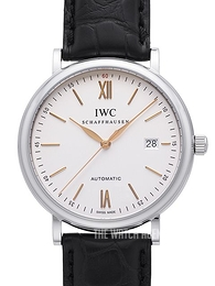 IWC Portofino Silver colored/Leather Ø40 mm IW356517