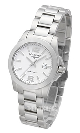 Longines Conquest White/Steel Ø29.5 mm L3.376.4.16.6