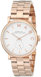 Marc by Marc Jacobs Baker White/Rose gold colored steel Ø36.5 mm MBM3244