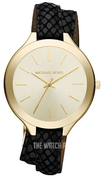 Michael Kors Runway Champagne colored/Leather Ø42 mm MK2315