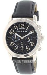 Michael Kors Mercer Black/Leather Ø45 mm MK8288