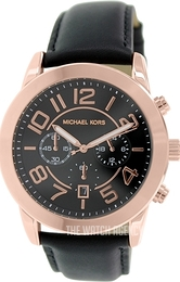 Michael Kors Mercer Black/Leather Ø45 mm MK8289