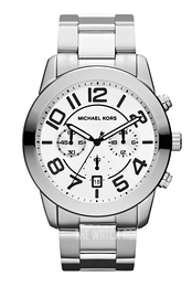 Michael Kors Mercer White/Steel Ø45 mm MK8290