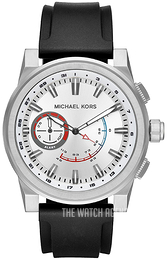 Michael Kors Access Silver colored/Rubber Ø47 mm MKT4009