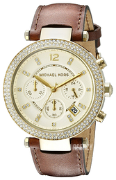 Michael Kors Parker Champagne colored/Leather Ø39 mm MK2249