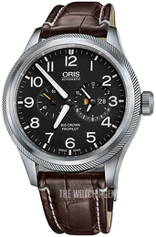 Oris Aviation Black/Leather Ø44.7 mm 01 690 7735 4164-07 1 22 72FC