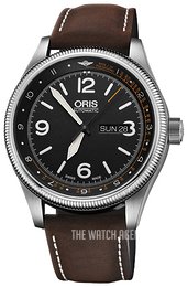 Oris Aviation Black/Leather Ø45 mm 01 735 7728 4084-Set LS