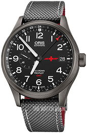 Oris Aviation Black/Leather Ø45 mm 01 748 7710 4284-Set