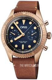 Oris Diving Blue/Leather Ø43 mm 01 771 7744 3185-Set LS