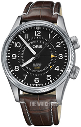 Oris Aviation Black/Leather Ø44 mm 01 910 7745 4084-Set LS