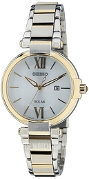 Seiko Solar Silver colored/Yellow gold toned steel Ø32 mm SUT154P1
