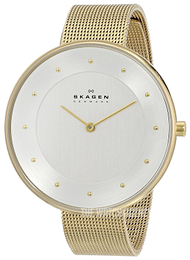 Skagen Gitte Silver colored/Yellow gold toned steel Ø38 mm SKW2141