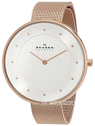 Skagen Gitte Silver colored/Rose gold colored steel Ø38 mm SKW2142