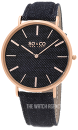 So & Co New York SoHo Blue/Leather Ø41 mm 5103.5