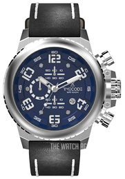 Timecode Everest 1953 Blue/Leather Ø48 mm TC-1004-03