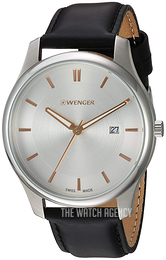 Wenger Silver colored/Leather Ø43 mm 01.1441.103