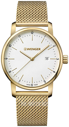 Wenger Urban Classic White/Yellow gold toned steel Ø42 mm 01.1741.112