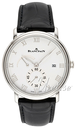 Blancpain Villeret White/Leather Ø40 mm 6606A-1127-55B