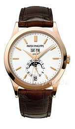 Patek Philippe Complicated Annual Calender Silver colored/Leather Ø38 mm 5396R/011