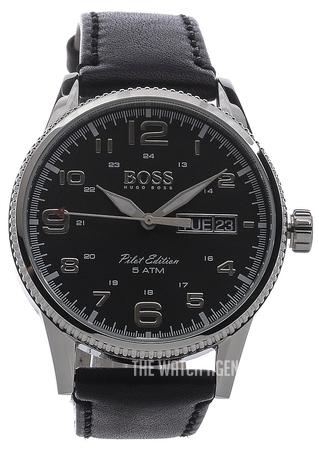 73ab6c85f Hugo Boss Pilot Vintage Black/Leather Ø44 mm ref. 1513330