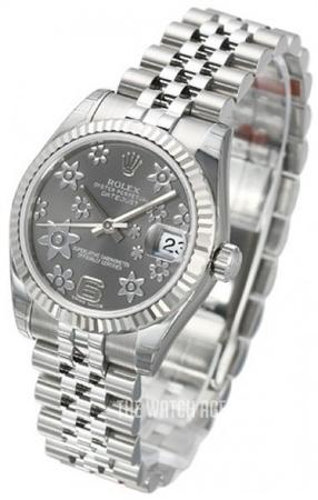 Datejust Midsize Grey Steel O31 Mm Ref 178274 0092
